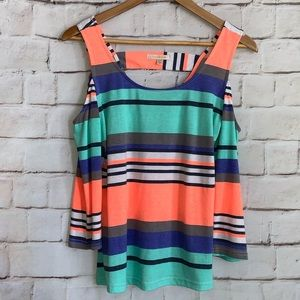 Skies Are Blue Shirt, Cold Shoulder, 3/4 Sleeves 8